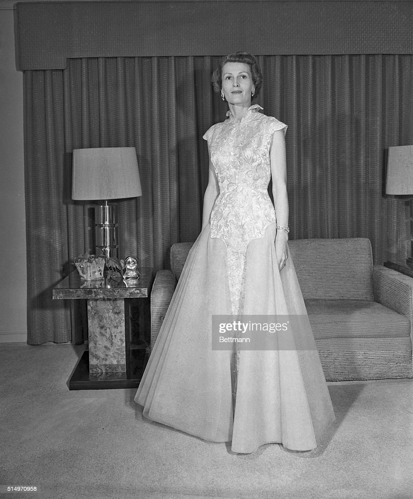 Vice President Richard Nixon\'s Wife Pat Posing in Evening Gown ...