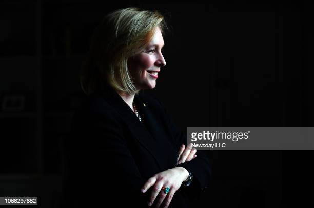 New York Senator Kirsten Gillibrand on January 27, 2010 during an interview with Newsday in Washington, D.C. Marking the her first year in office.