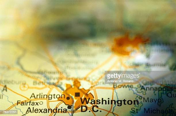 washington dc on map - arlington virginia stock pictures, royalty-free photos & images