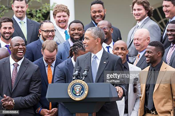 Washington DC On Monday June 6 in the Rose Garden of the White House President Barack Obama welcomed the Super Bowl Champion Denver Broncos to honor...