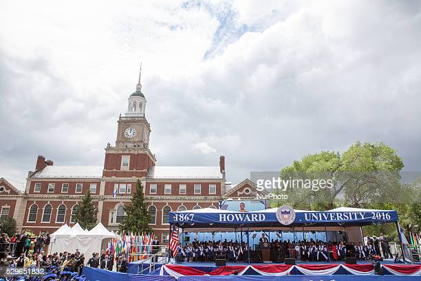 Washington DC On Saturday May 7 at Howard University Upper Quandrangle University Campus Commencement speaker President Barack Obama speaks to...