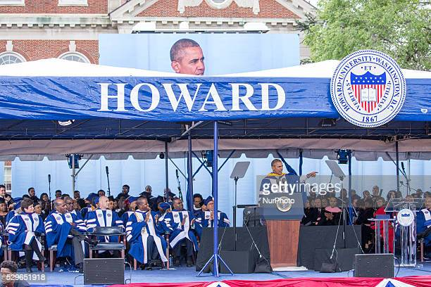 Washington DC On Saturday May 7 at Howard University Upper Quandrangle University Campus lr Valerie Jarrett Vernon Jordan President Wayne Frederick...