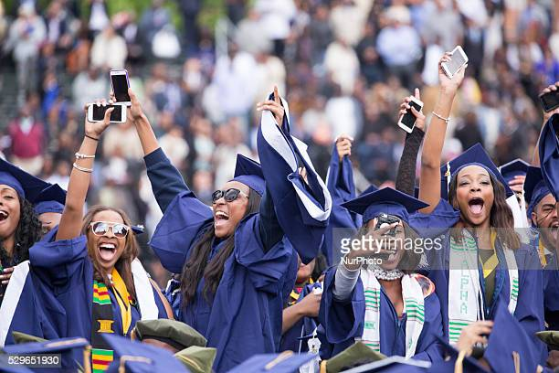 Washington DC On Saturday May 7 at Howard University Upper Quandrangle University Campus graduates celebrate at the 148th Commencement Convocation