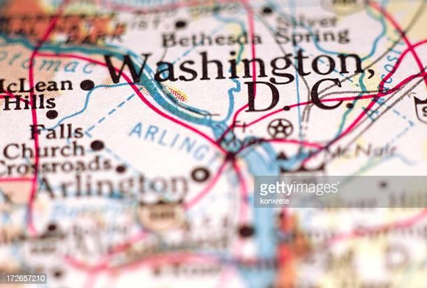 Washington, DC, auf der Karte