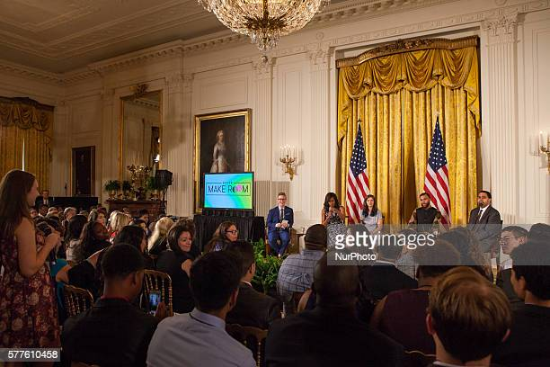 Washington DC On Tuesday July 19 in the East Room of the White House As part of a Reach Higher Back to School event Mrs Obama participated in a panel...