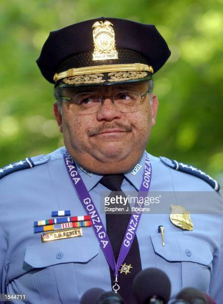 Washington D.C. Police Chief Charles Ramsey answers questions at a news conference after announcing that the skeletal remains found in Rock Creek...