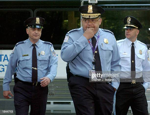 Washington D.C. Police Chief Charles Ramsey walks to a news conference where he announced that the skeletal remains found in Rock Creek Park were...