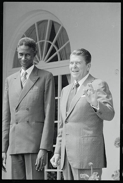 President reagan with abdou diouf pictures getty images president reagan with abdou diouf m4hsunfo