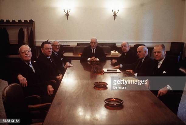 Representative Hale Boggs Representative of Louisiana Seven man commission meets to begin work on its investigation of the assassination of President...