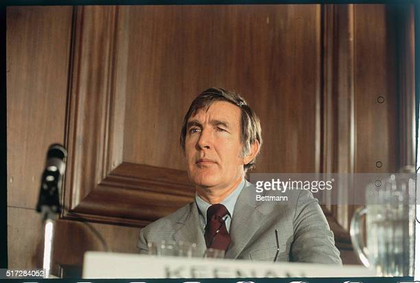 Representative Morris Udall candidate for the Democratic Presidential Nomination shown at a press conference