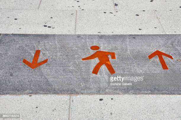 USA, Washington D.C., road signal for pedestrians