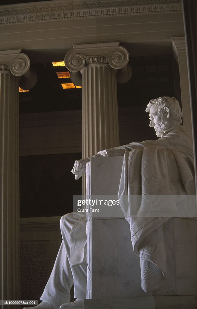 USA, Washington DC, statue at Lincoln Memorial, side view : Stockfoto