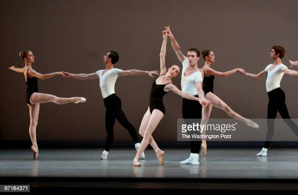 Washington DC The dance company of famous ballet dancer Balanchine protege and choreographer Suzanne Farrell performs Program A at dress rehearsal at...