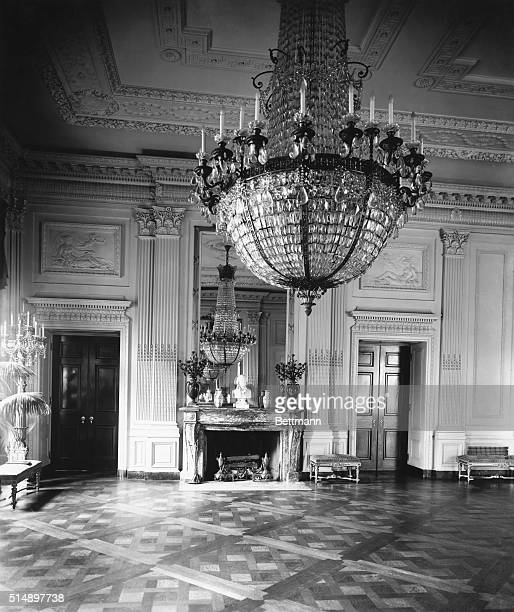 Washington D.C.: The East room where receptions are held. Undated photo.