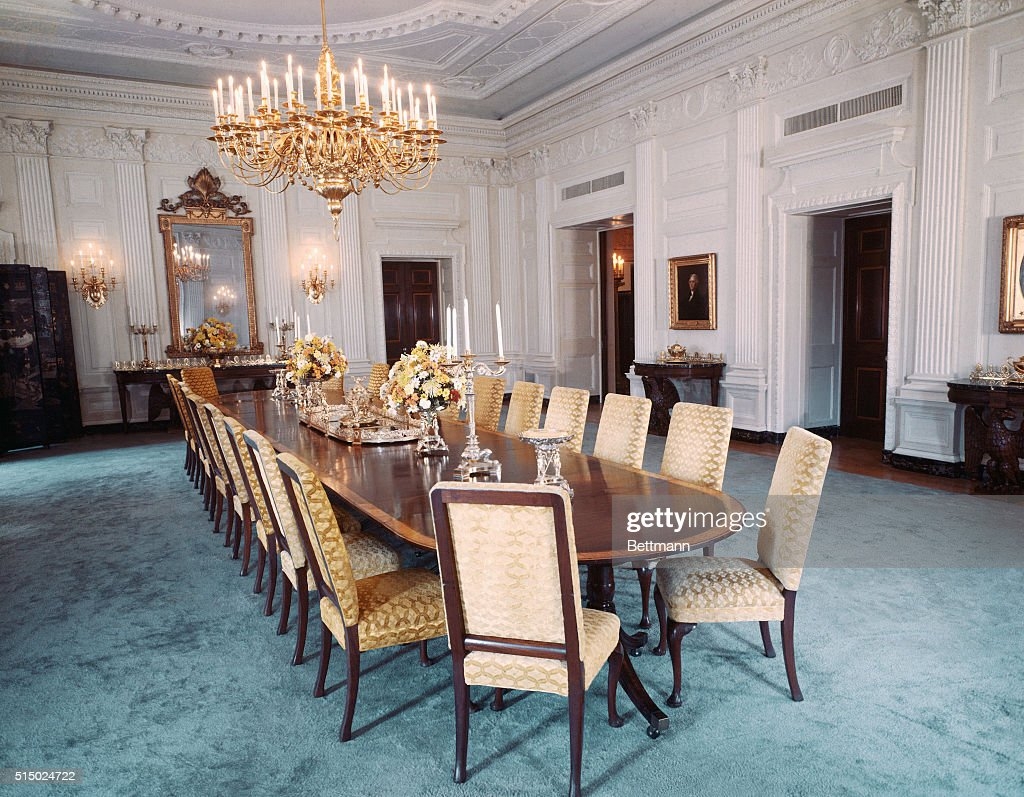 White house state dining room pictures getty images the newly redecorated state dining room in the white house dzzzfo