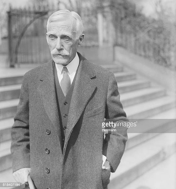 Washington, DC- The photograph of Andrew Mellon, Secretary of Treasury, was taken on March 1st, as he left the White House in Washington, DC, after a...