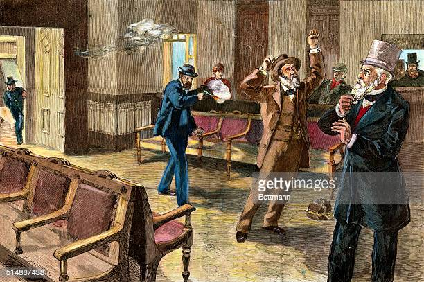 The Tragedy at Washington The Assassin Firing The Second Shot At President Garfield