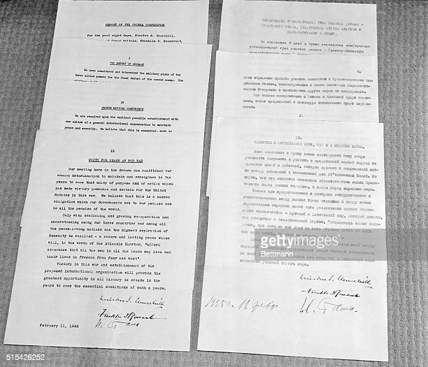 The Yalta Agreement Revealed On exhibition in the National Archives in Washington in 1945 are originals of the Yalta Agreement signed in February of...