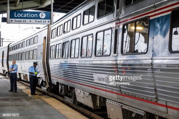 Washington DC, Union Station, Amtrak, Viewliner 62000, crew members platform.