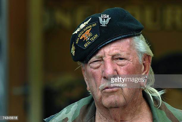 War veteran of World War II Korea and Vietnam Elton Ensor Navy frogman and SEAL and currently a volunteer with Veterans of Foreign Wars by spending...