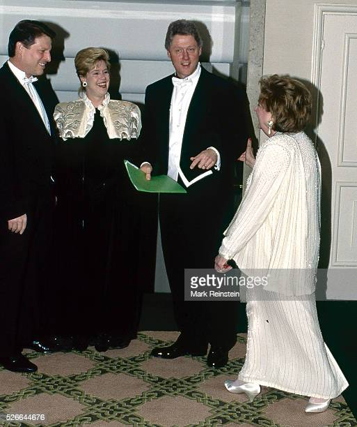 Washington, DC. USA 28th March, 1993 Helen Thomas chief White House correspondent for UPI serving as this year's President of the Gridiron Club...