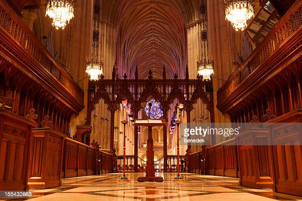 washington dc, usa, national cathedral - national cathedral stock pictures, royalty-free photos & images