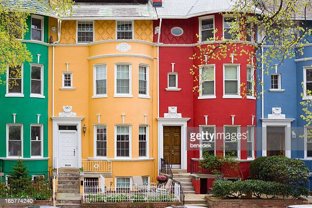washington dc, usa - terraced_house stock pictures, royalty-free photos & images