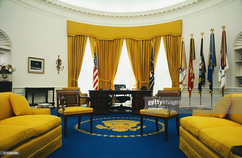 nixon office. View Of President Richard Nixon\u0027s Office In The White House. Rug, Designed By Nixon H