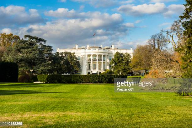 usa, washington dc, view to white house - la maison blanche photos et images de collection