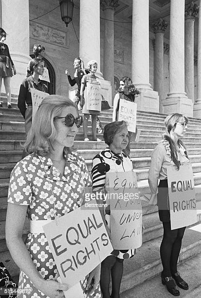 10/7/1970 Washington DC With signs hanging around their necks calling for equal rights under law a group of women took up a vigil on the Capital...