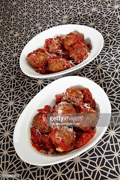 Eggplant Meatballs in Tomato Sauce for FDWeeknight Vegetarian Aug 21 Photo by Marge Ely for The Washington Post via Getty Images