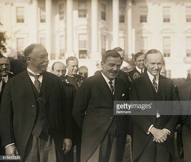 Washington, DC-Left to right: Honorable William H. Taft, Chief Justice of the Supreme Court; General Plutarco Elias Calles, President-elect of...