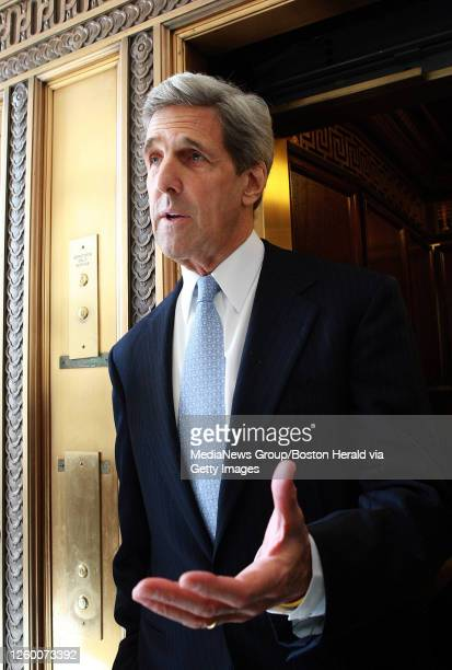Washington, DC)Senator John Kerry comments on the arrival of Scott Brown and also on Kerry will be recieving Senator Ted Kennedy's former desk, the...