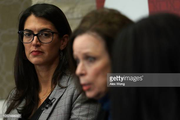 Washington director of Human Rights Watch Sarah Margon listens during a discussion at the Hoover Institution October 18 2018 in Washington DC The...