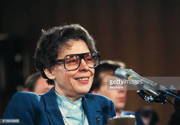 Washington: Dr. Jeane Kirkpatrick, nominated to U. N. Ambassador in Reagan Administration.