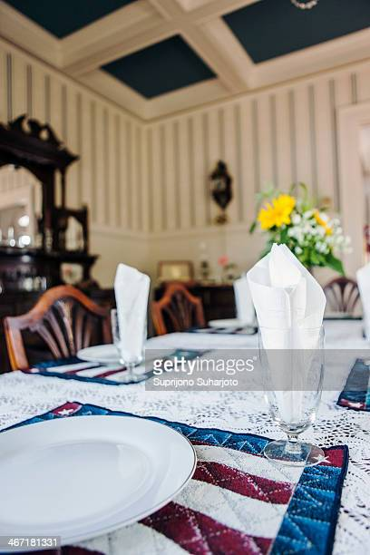 USA, Washington, Everett, Close-up of table in dining room