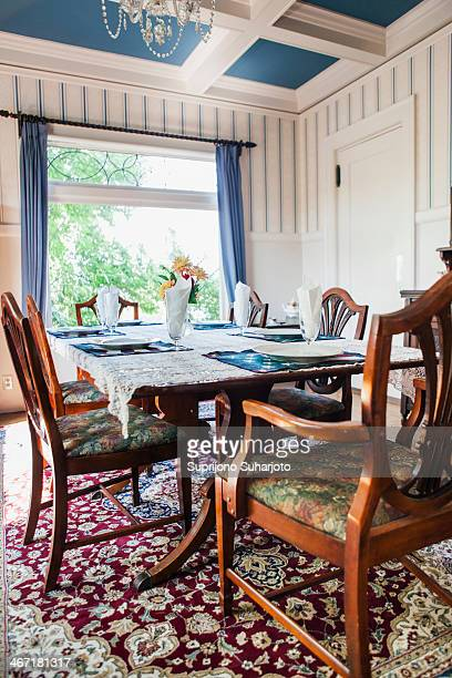 USA, Washington, Everett, Empty dining room