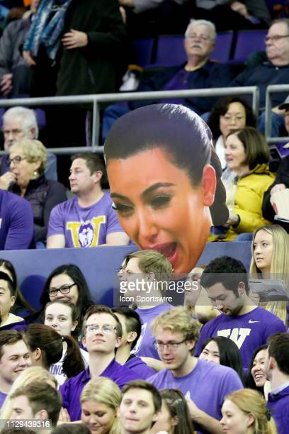 Washington fans waved a GIANT crying Kim Kardashian card board cut out during the game during the Washington Huskies game versus the Oregon State...