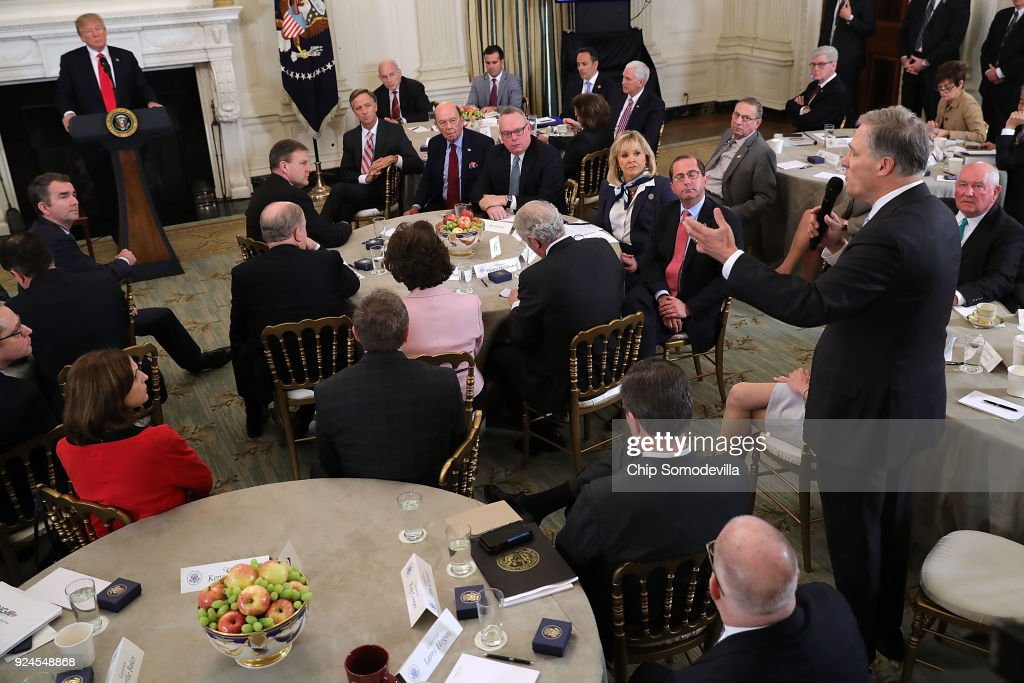 President Trump Holds White House Business Session With U.S. Governors