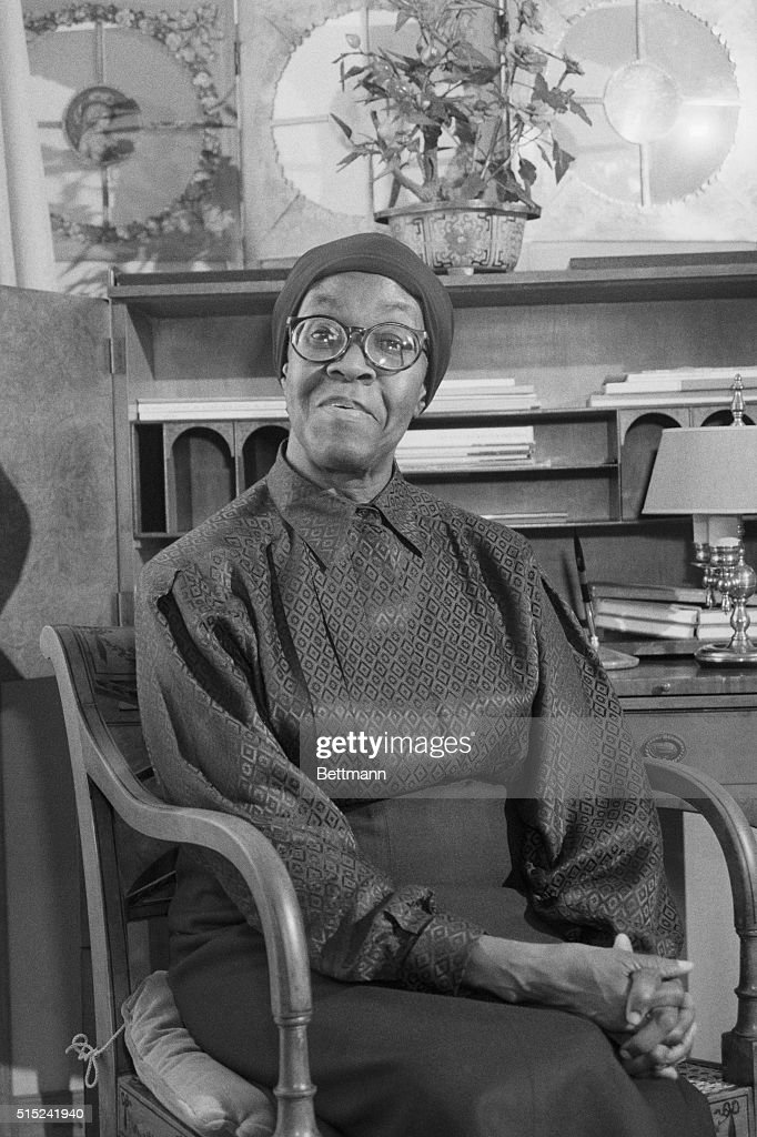 Gwendolyn Brooks in the poetry room of the Library of Congress.