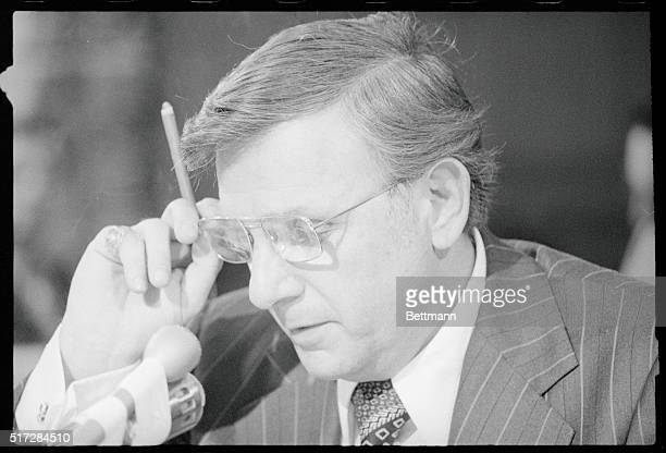 Henry W Bloch the president of HR Block the tax return preparation firm testifying before a Senate hearing into Internal Revenue Service practices...
