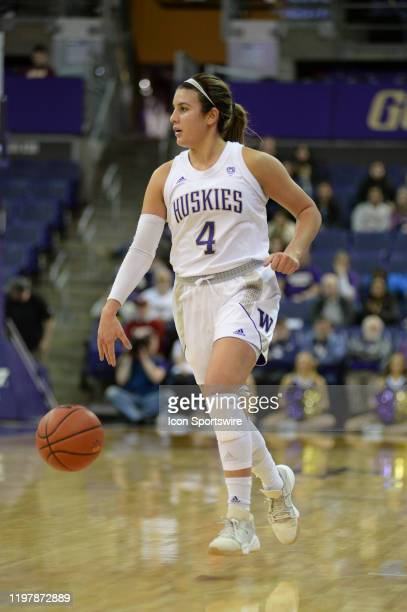Washington Huskies guard Amber Melgoza in action during a PAC12 conference game between the Stanford Cardinal and the Washington Huskies on January...