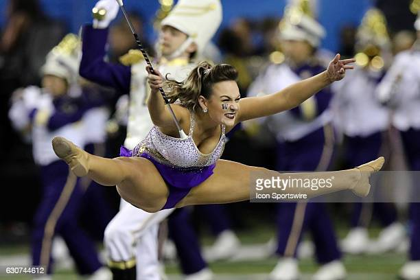 Washington Huskies majorette at the College Football Playoff Semifinal at the ChickfilA Peach Bowl between the Washington Huskies and the Alabama...