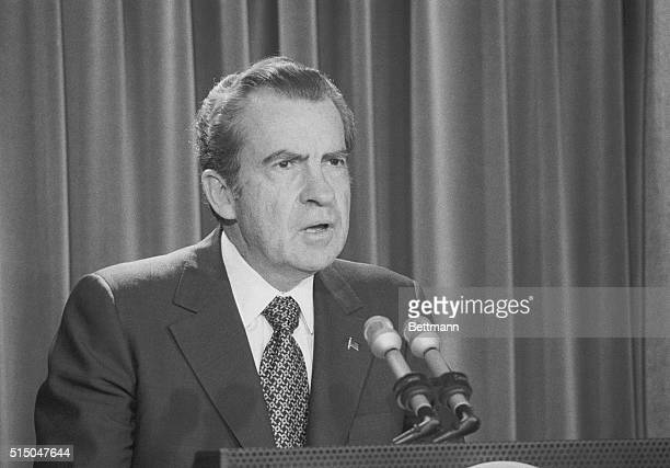 In a brief appearance before newsmen at the White House Pres Nixon said there have been 'major developments' in a new investigation he has ordered to...