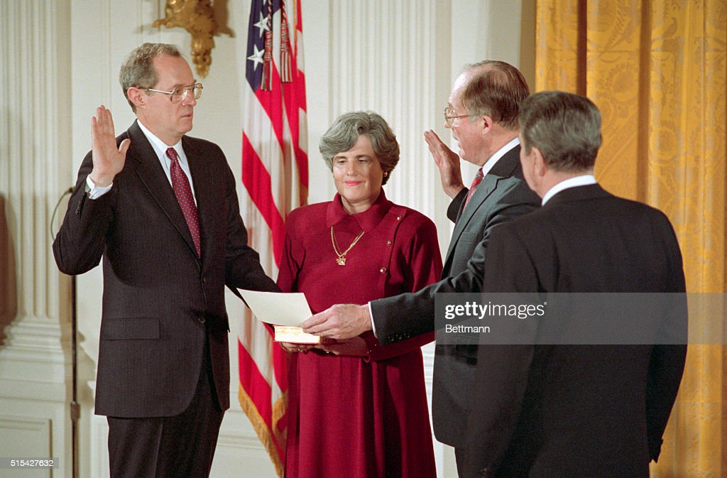Anthony Kennedy Taking Constitutional Oath : News Photo