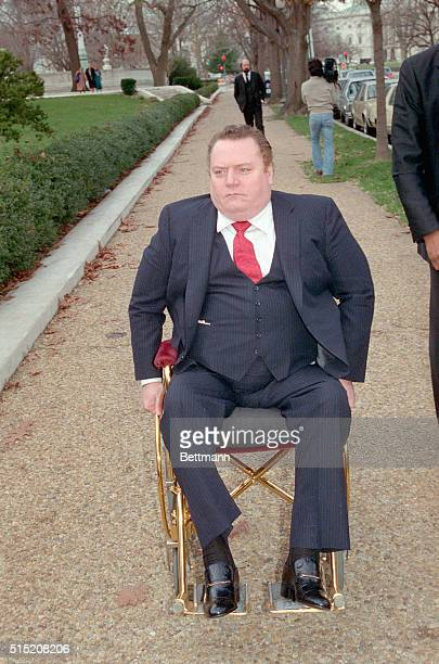 Larry Flynt publisher of Huster magazine arrives at the Supreme Court The court is reviewing the constitutionality of the $200000 award won by...