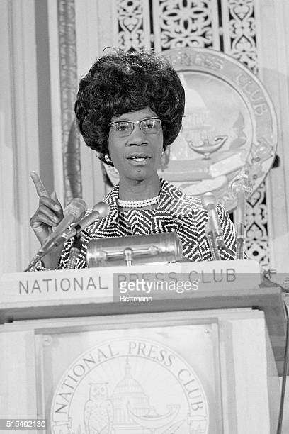 Lashing out at the Nixon Administration in her strongest antiwar speech to date Democratic presidential candidate Shirley Chisholm described the...