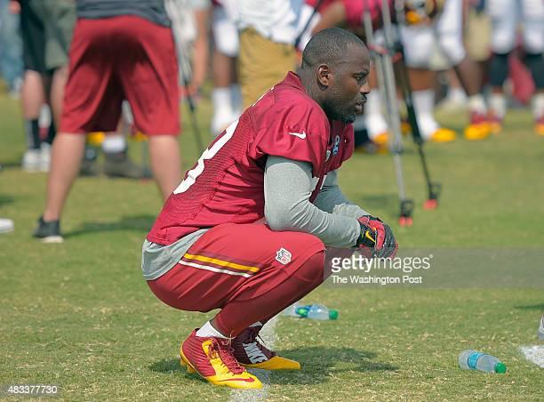 Washington linebacker Junior Galette during day 5 of the Washington Redskins training camp in Richmond VA August 3 2015