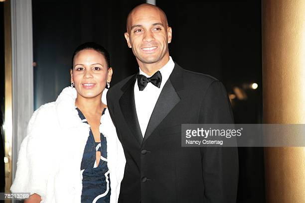 Washington Mayor Adrian Fenty and his wife Michelle Cross Fenty arrive at the 30th Annual Kennedy Center Honors December 2 2007 in Washington DC