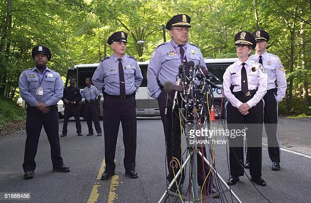 Washington Metropolitan Police Chief Charles Ramsey confirms 22 May 2002 in Washington, DC, that the human remains found in Rock Creek Park are those...